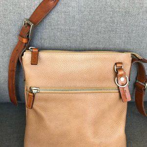 Unisex Salvatore Ferragamo Leather Messenger Bag